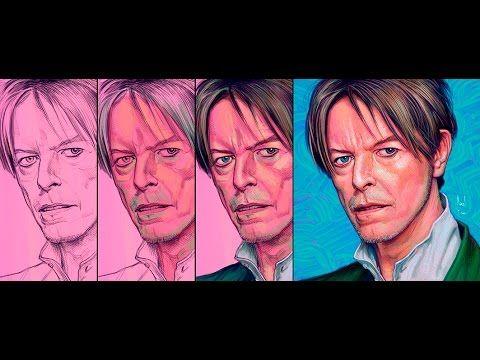 "Portrait for the genius ""David Bowie"", by the visual artist Manuel Berri..."