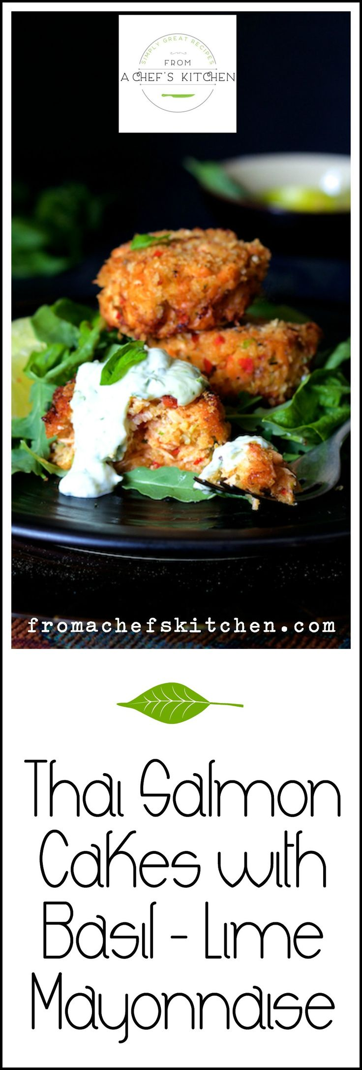 thai salmon cakes basil lime mayonnaise