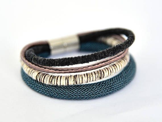 Rope stacking fashion bangles-Wife anniversary gift-Valentines