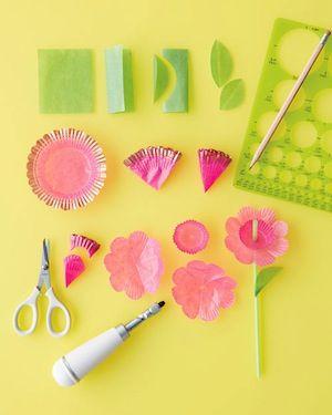 Fun Floral Straws by Martha Stewart