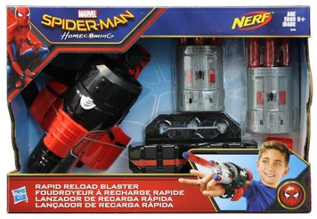 Spider Man Homecoming Rapid Reload Blaster Toy For Kids