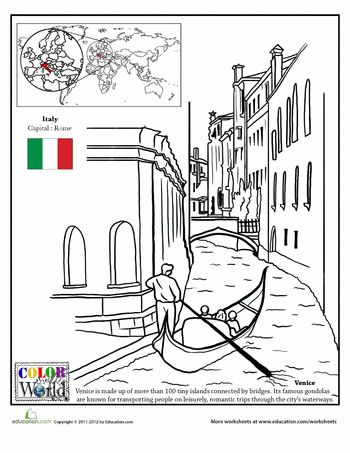 Worksheets: Color the World! Venice