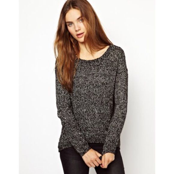 ASOS salt and pepper black and gray sweater