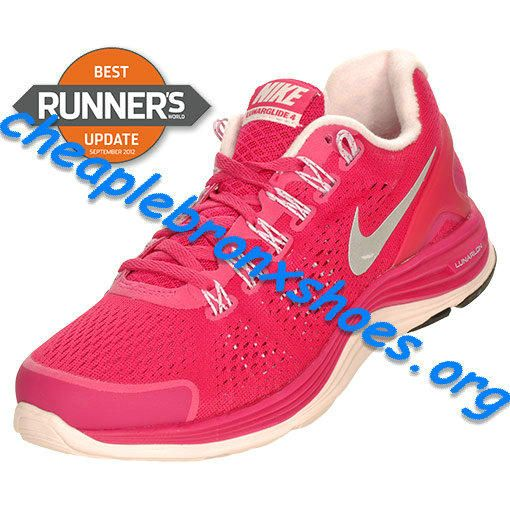 Fireberry Nike Cheap LunarGlide 4 Womens Shoes Pearl Pink Silver