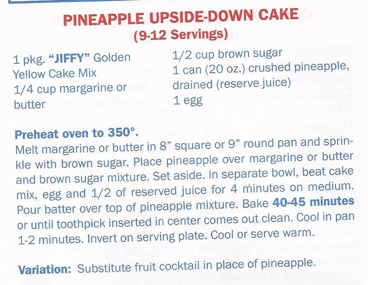Pineapple Upside Down Cake With Jiffy Baking Mix