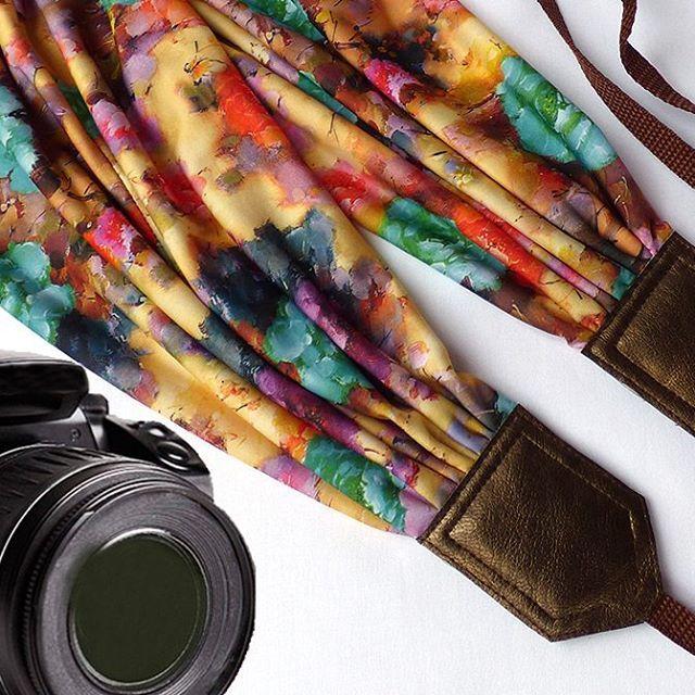 Floral scarf camera strap. DSLR Camera Strap. Camera accessories. Colorful camera strap for Canon, Nikon, Fuji & other cameras. Graet gift. $41