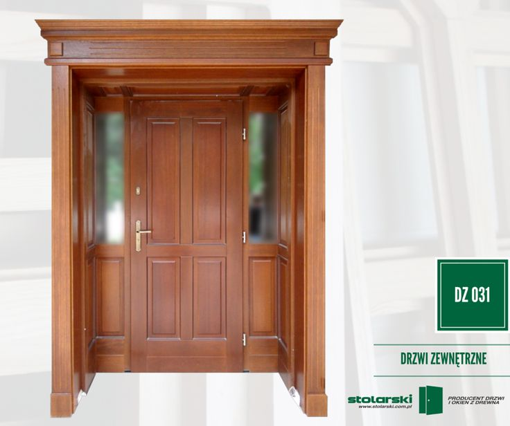 Drzwi zewnętrzne MODEL DZ 031 #drzwidrewniane #drzwizewnetrzne #door #wood #stolarnia #drzwimarzeń #realizacje www.stolarski.com.pl