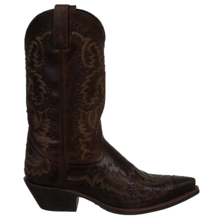 Laredo Men's Midnight Rider Cowboy Boots (Dark Brown) - 11.5 2E