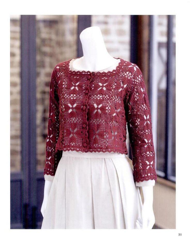 1691 besten Bolero crochet y blusas Bilder auf Pinterest   Häkeln ...