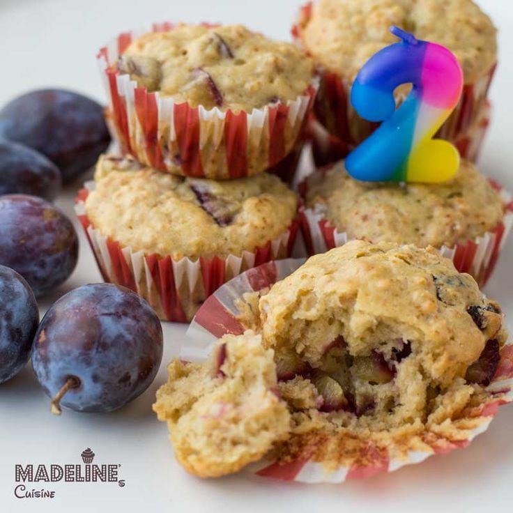 Briose cu prune pentru copii / Toddler plum muffins