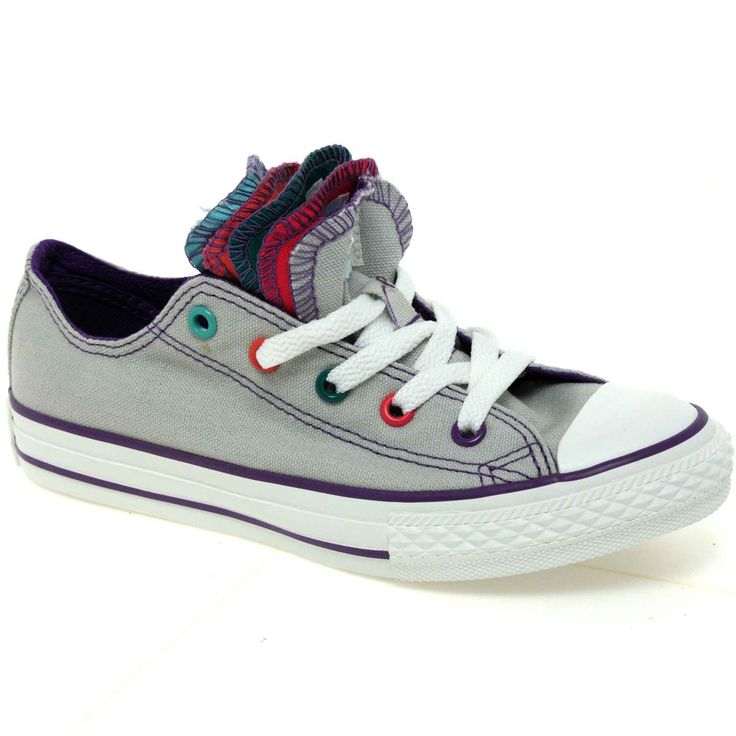 Converse+Shoes+for+Girls | Home › Girl's › Canvas › Converse Junior Multi Tongue Girls Lace ...
