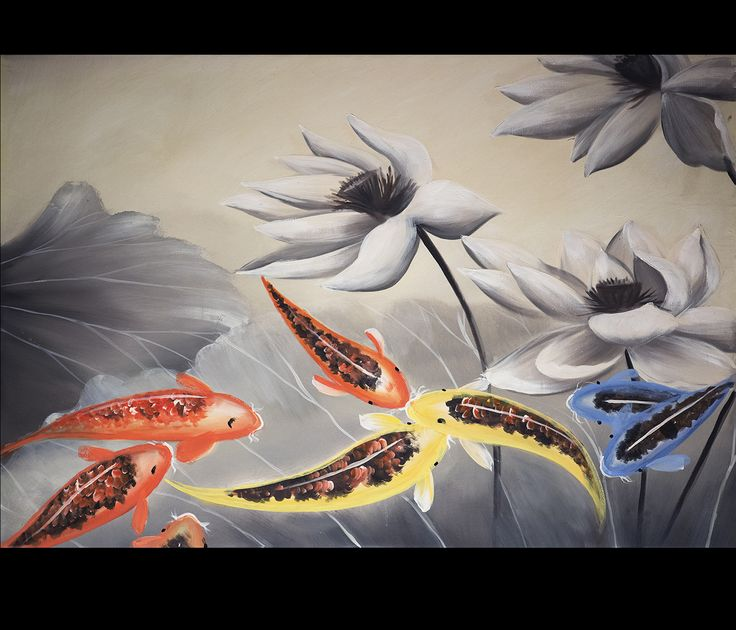 17 best images about koi fish on pinterest koi art for Koi canvas print