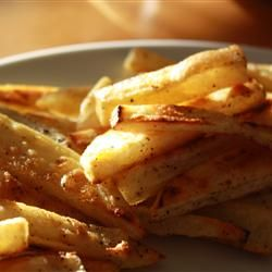 Best Baked French Fries. Sugar is the secret ingredient for crisp fries, and supposedly you can't taste it in the end.