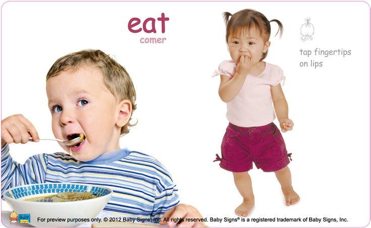 "Toddler signing ""Eat"" baby sign language | PortraitBug NYC ... |Eat Sign For Baby Pick"