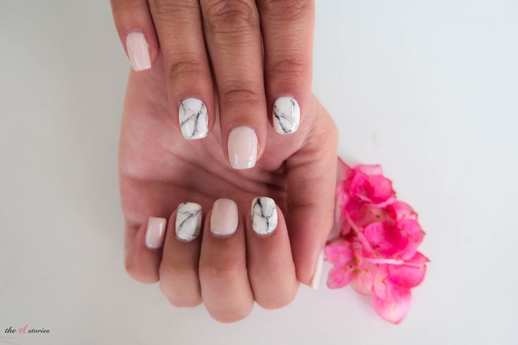 marble nails trend