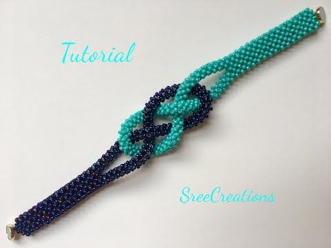 Cubic Right Angle Weave bracelet - YouTube