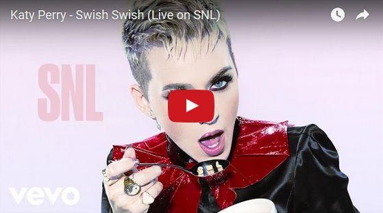 Watch: Katy Perry - Swish Swish (Live on SNL) See lyrics here: http://katyperry-lyrics.blogspot.com/2017/06/swish-swish-lyrics-katy-perry-feat.html #lyricsdome