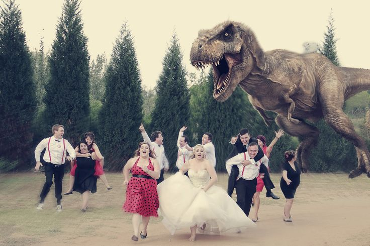 https://flic.kr/p/H7ik2S | DC(2) | when disaster strikes on your wedding and you need to run from an angry T-Rex
