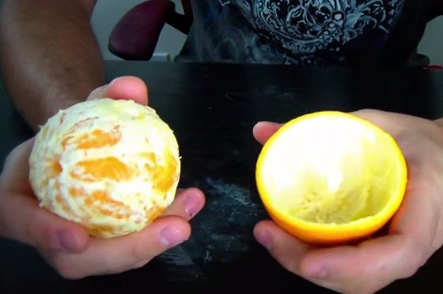 Bonus: tip on how to peel a mandarin orange or clementine if you're dealing with smaller fruit.