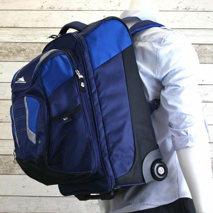 High Sierra Freel Blue Travel Backpack with Wheels