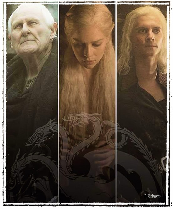 House Targaryen ~ Aemon, Daenerys and Viserys ~ Game Of Thrones