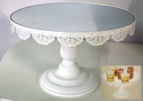 Lace Mirrored Cake Stand