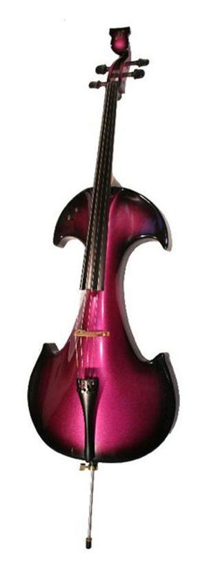 Hot electric cello: Bridge Draco EC4 B/P Electric Cello - Black/Purple