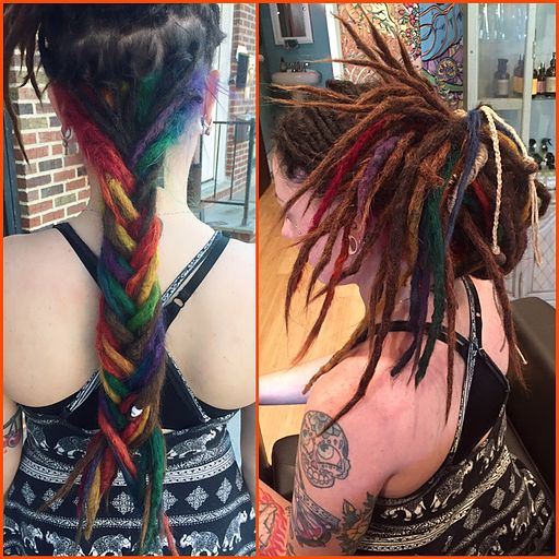 Rebel Rebel Organic Hair and Dreadlock Salon | Creative Color and Haircuts, Rebel Rebel Organic Hair and Dreadlock Salon, dreadlock salon philadelphia, pravana vivids philadelphia, rainbow dreadlocks, rainbow hair, pravana vivids dreadlocks.