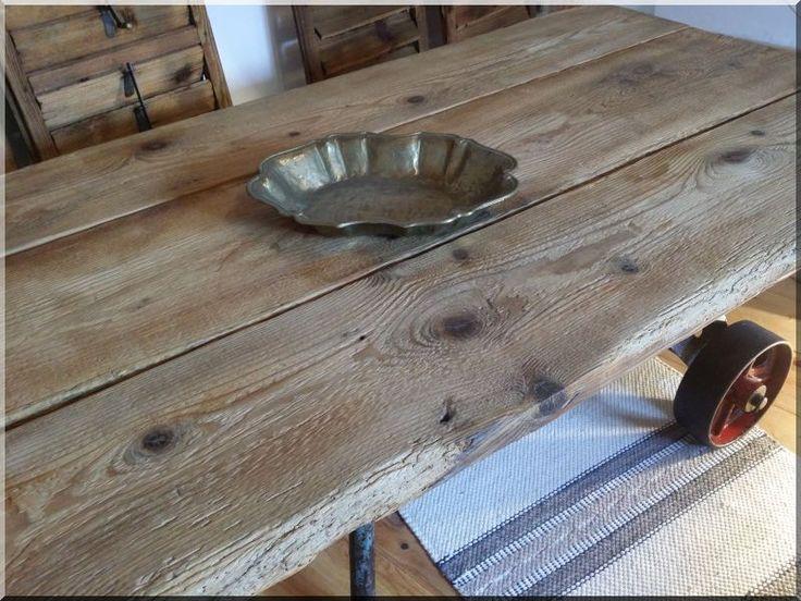 Indusztriális asztal, egyedi gyártású bútor