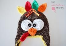 Newborn Turkey Hat FREE Crochet Pattern - The Stitchin' Mommy