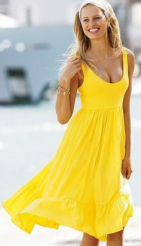 Желтое платье victoria s secret