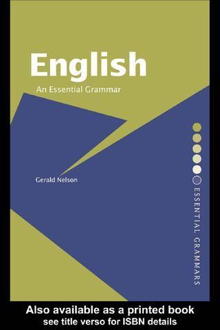 Gerald nelson english an essential grammar