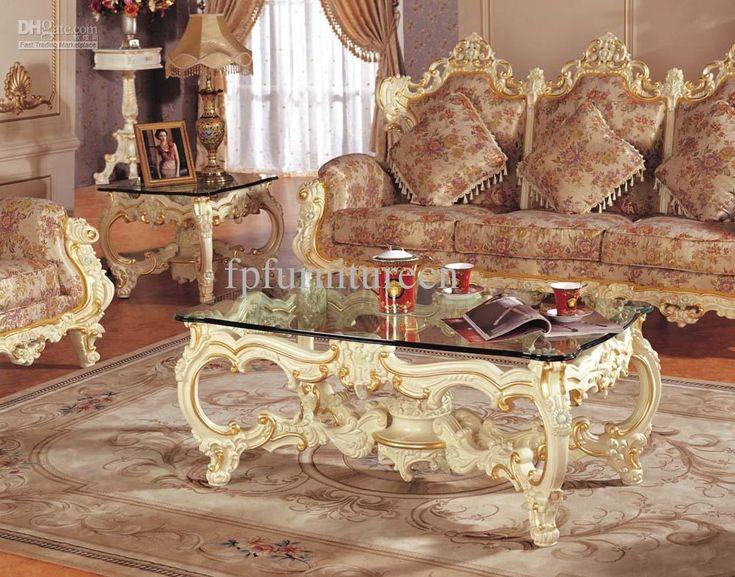 Hot Selling Rococo Style Living Room Sofa Set Palace Royal Furniture Europea
