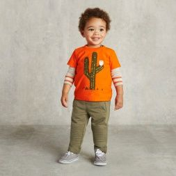 Cacti-Inspired Orange Tee for Baby Boys | Tea Collection