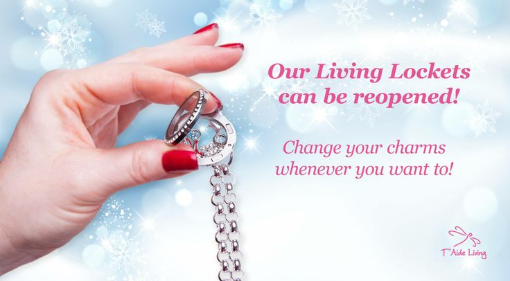 Our Living Lockets can be reopened! You can change the charms whenever you like!