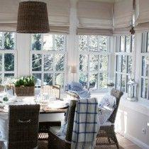 The Farmhouse - roman shades in breakfast room