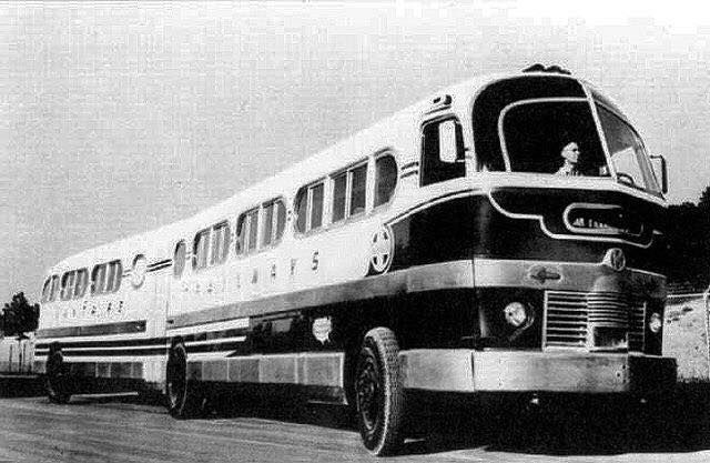 Kaiser bus articulate unit around 1946 and powered by cummins NHS-275HP built exclusive for Santa-fee railway & transportation.