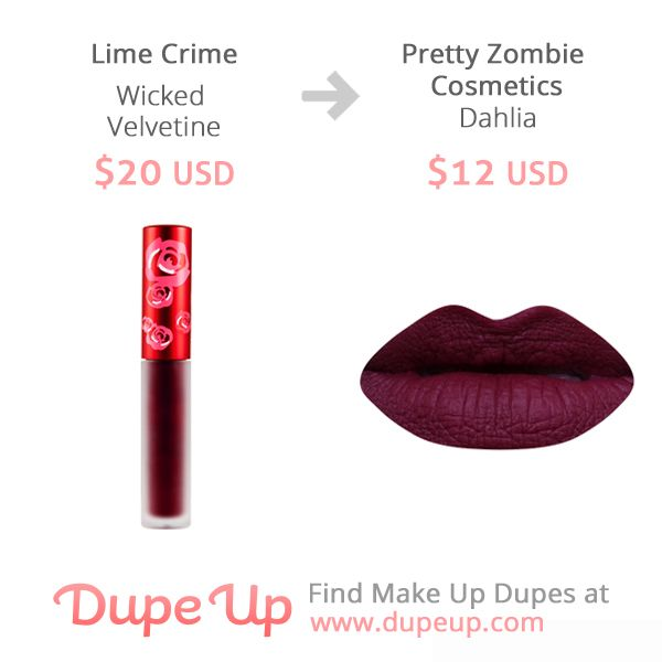 Lime Crime Wicked Velvetine dupe