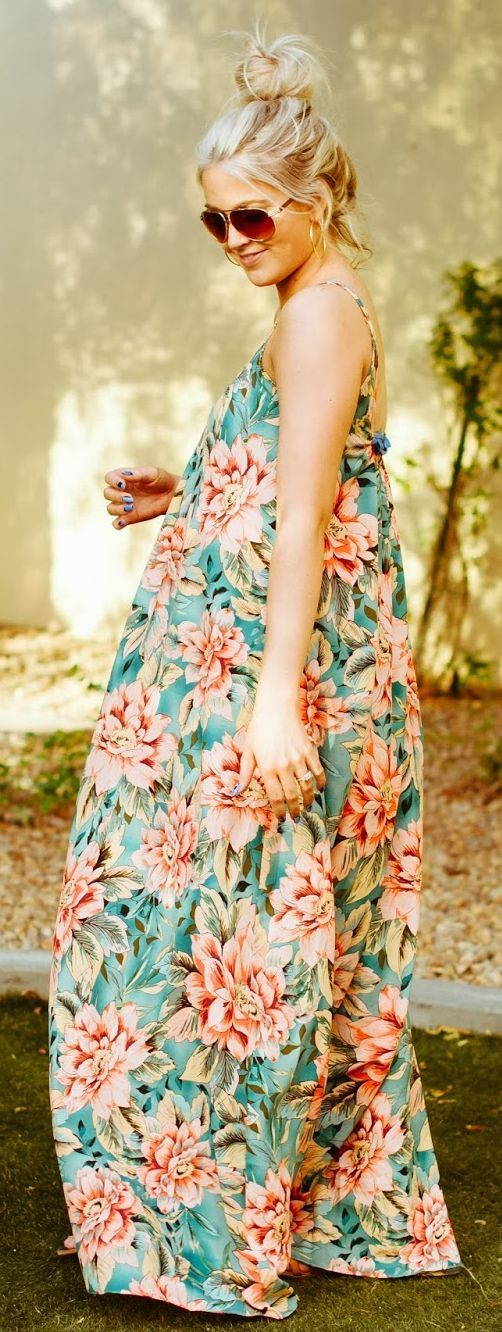 RiffRaff Floral Maternity Dress by Cara Loren...wish I was pregnant so I could wear this