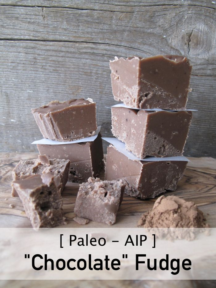 "| AIP / Paleo ""Chocolate"" Carob Fudge | http://asquirrelinthekitchen.com"