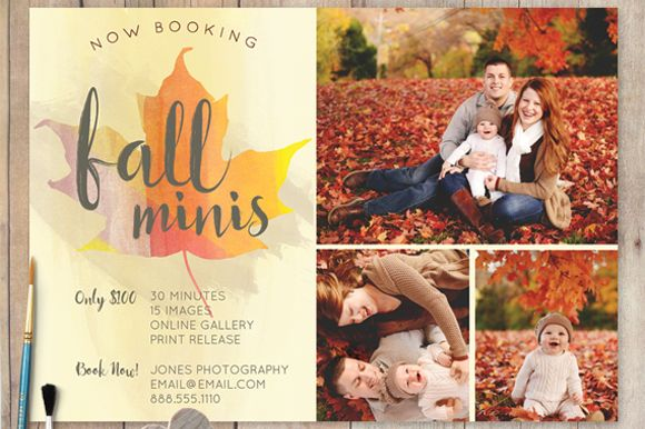 Fall Mini Session PSD Template by cardcandy on @graphicsmag