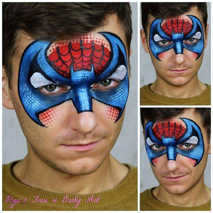 die besten 25 schminken spiderman ideen auf pinterest superheld gesicht malerei. Black Bedroom Furniture Sets. Home Design Ideas