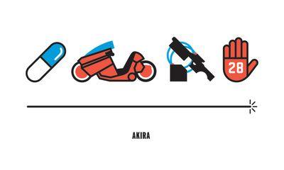 Akira, Four Icon Challenge Art Print