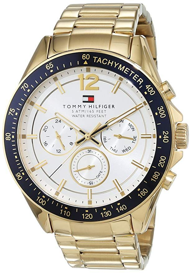 Tommy Hilfiger Mens Quartz Watch Multi Dial Display And Stainless