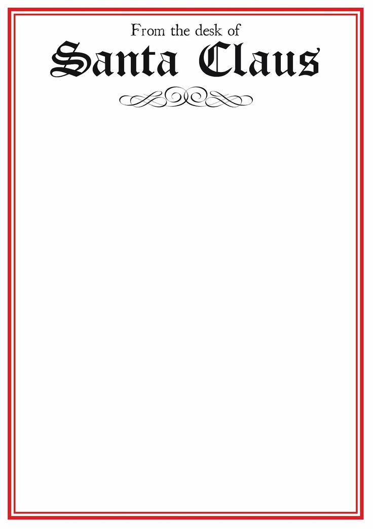 Free Printable Letter From Santa Blank Letters To Santa Letter To Santa  Templates Printable Letters FREE Christmas Party Printables From  Serendipity Soiree