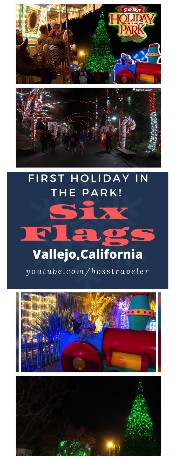 Celebrating our second holiday getaway at Six Flags ...