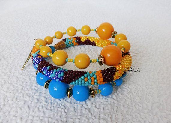 Boho bracelet African bracelet Colorful bracelet Statement