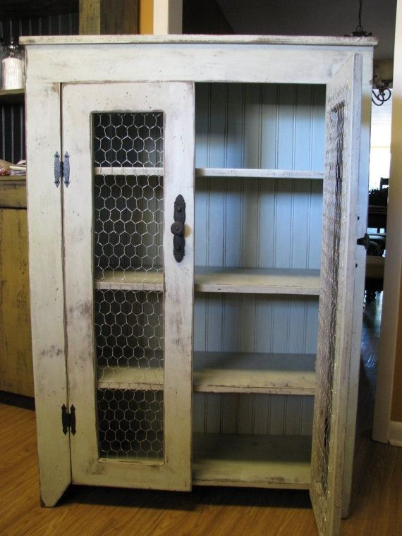 Primitive/Country/Rustic Pie Cupboard by OurPrimitiveKountry by pat.raines.14