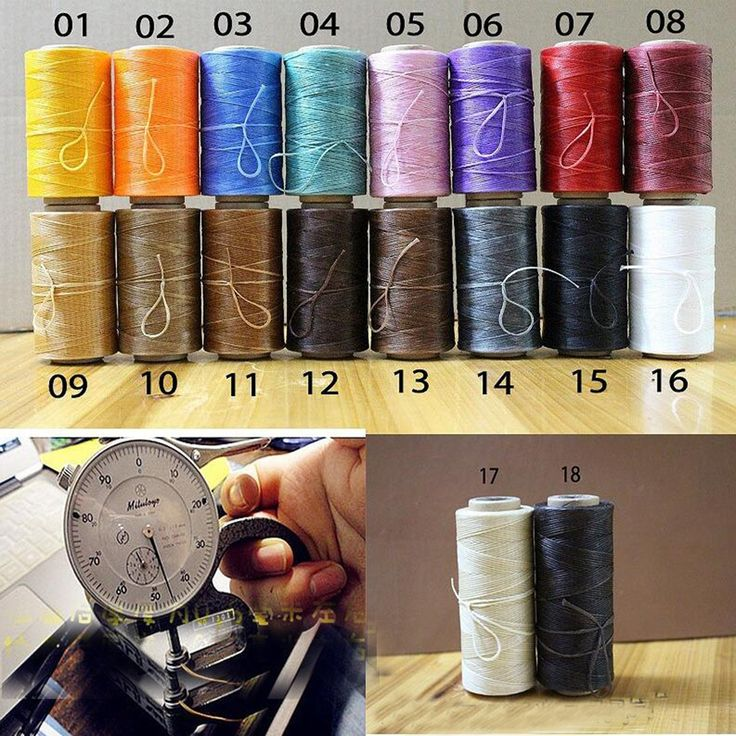 260meters DIY Handmade tools material 18 colors 0.5mm Hand sewing string rope Leather for wax line 150D