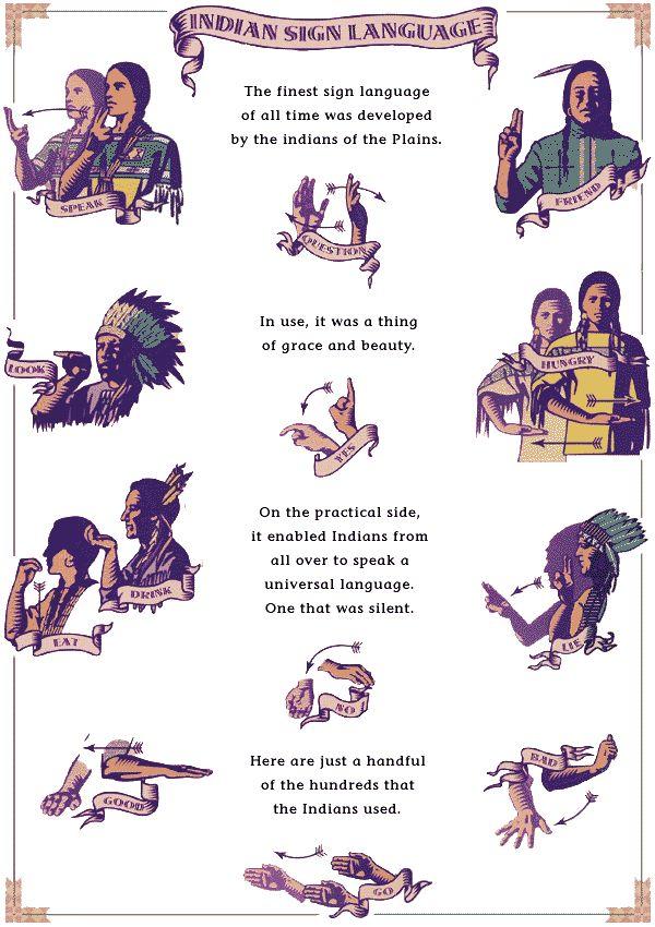 82 Best Native American Sign Language Symbols Codes Images On